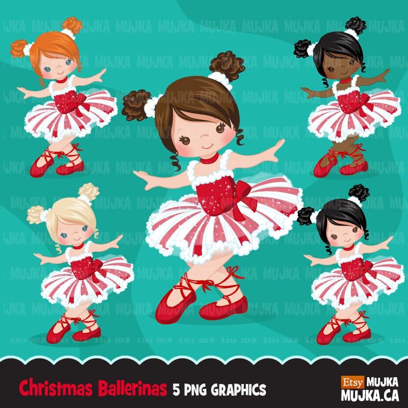 Weihnachten Ballerina Clipart Ballett-Zeichen | Etsy