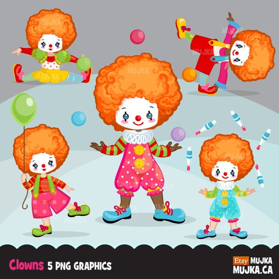 clown clipart circus characters african american card etsy