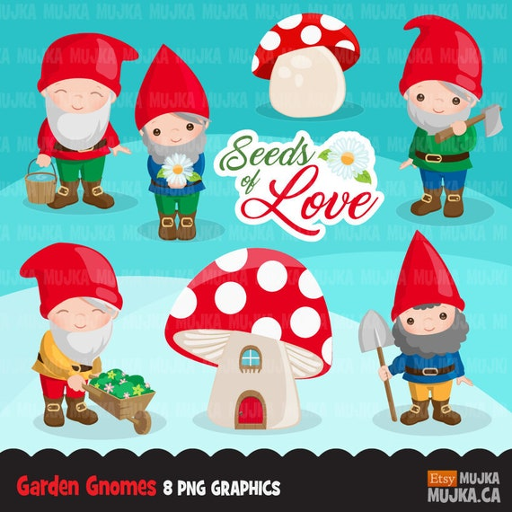 Gnome Clipart Alice In Wonderland Mushroom - Fairies And Gnomes Clip Art -  Png Download (#1928220) - PinClipart