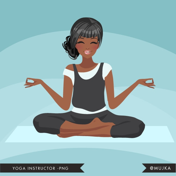 Yoga Instructor Avatar. Yoga Healthy Living Character