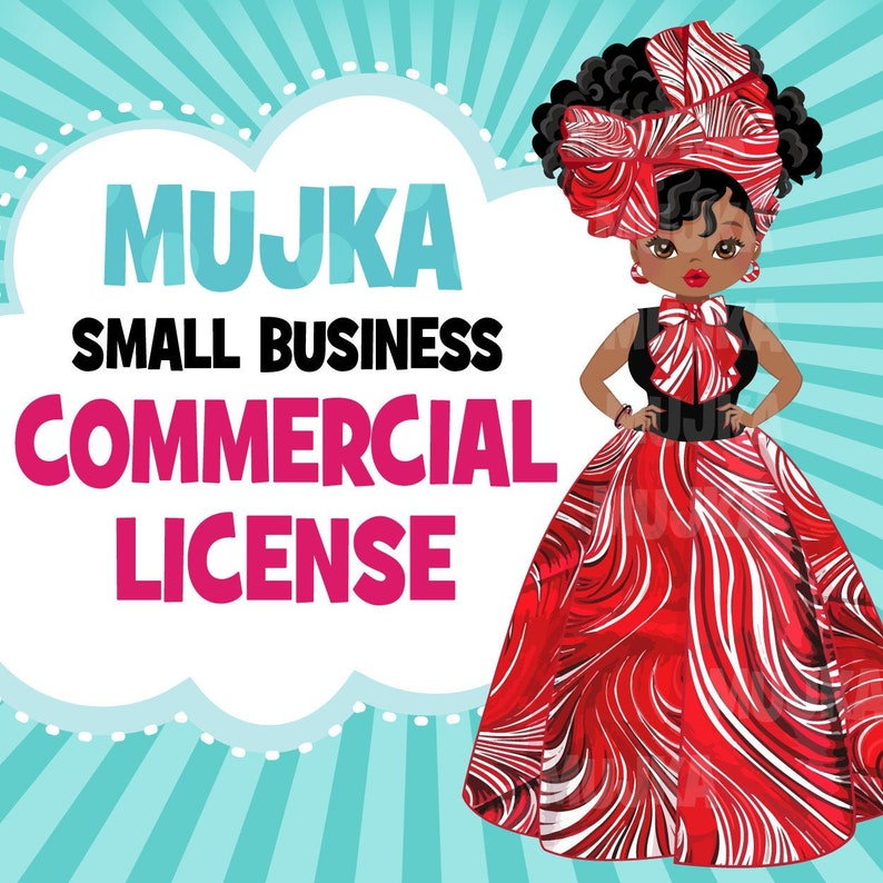 Commercial License for Mujka Chic Digital Download Products image 0