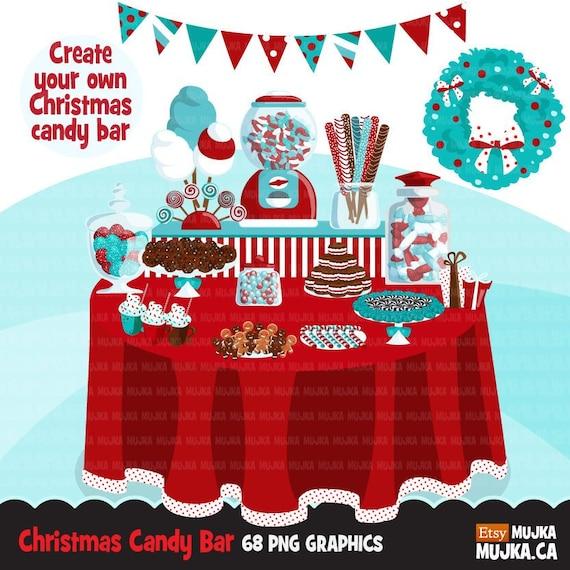 Christmas Candy Clipart.Christmas Candy Clipart Buffet Bar Display Sweets