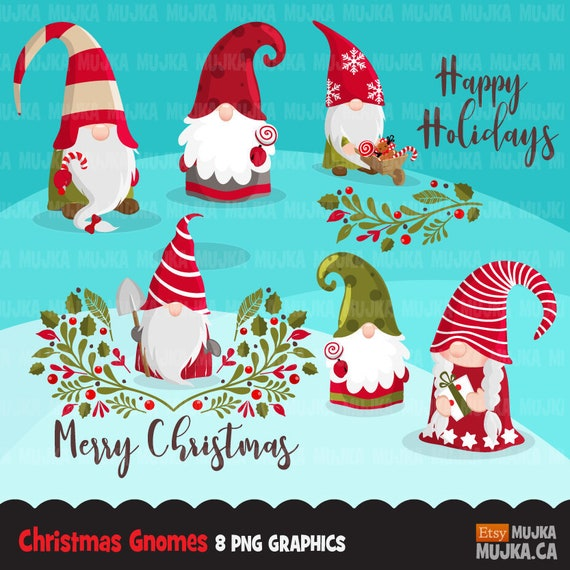 Christmas Gnomes Images.Christmas Gnomes Clipart Scandinavian Gnome Graphics Tomte Nisse Swedish Illustration Danish Nordic Holiday Noel Cute Characters