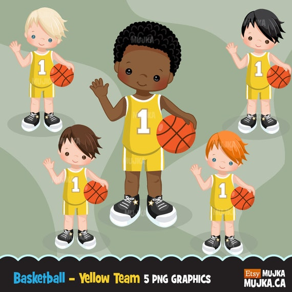 Basketball clipart  Sport graphics, basketball player characters