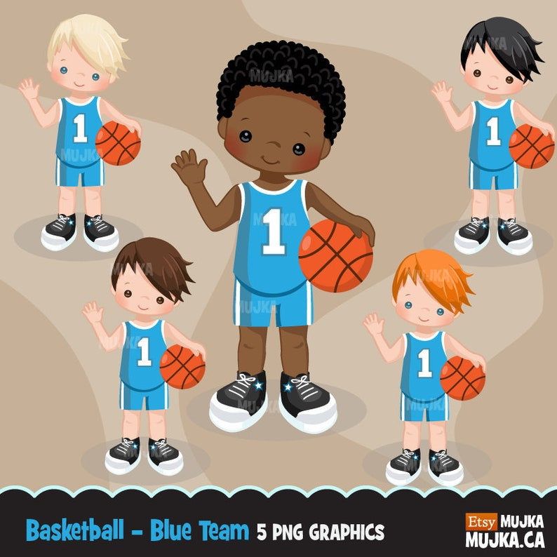 Basketball clipart  Sport graphics, basketball player characters, planner  stickers, commercial use, kids, scrapbooking, embroidery, chores
