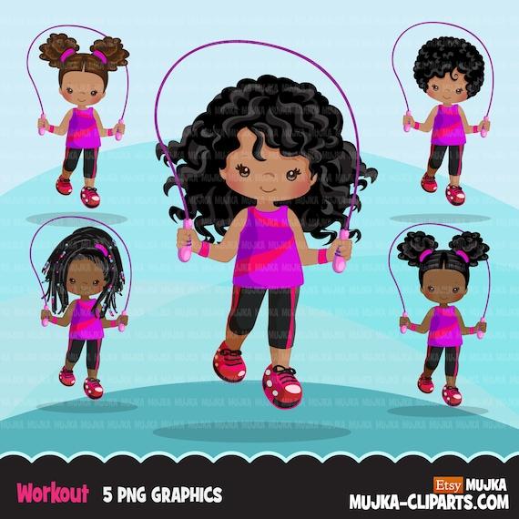 Sublimation Designs PNG graphics Gymnastics Clipart sports Gymnast black girls school activity
