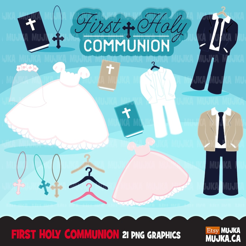 commercial use holy banner cross religious rosary bible First Holy Communion Clipart Communion outfit graphics