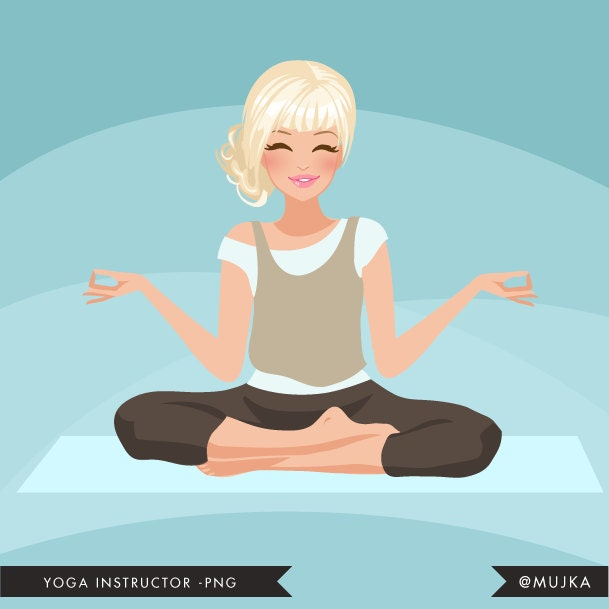 Yoga Instructor Avatar. Yoga Healthy Living Character