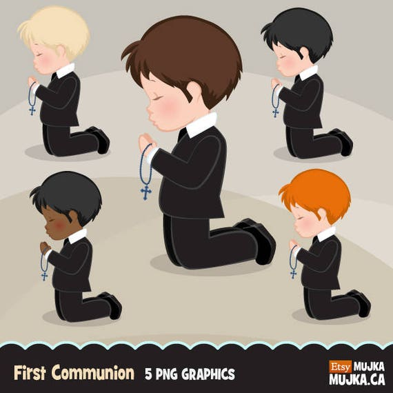 first communion clipart for boys characters graphics etsy rh etsy com first communion clip art free printable first communion clipart free