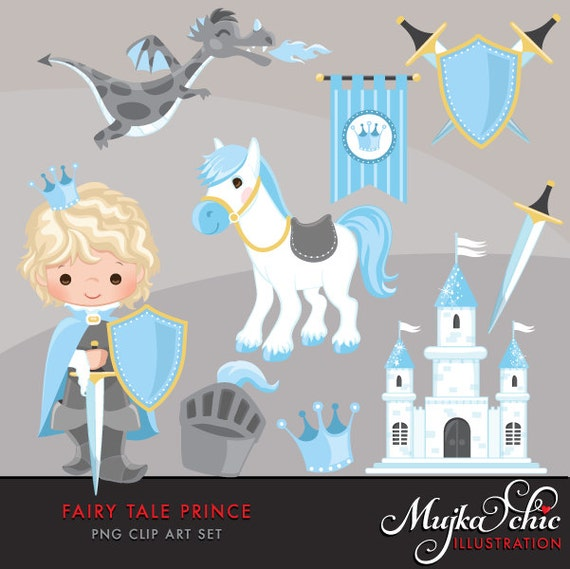 Fairy Tale Prince Clipart Fairy Tale Characters Dragon Etsy