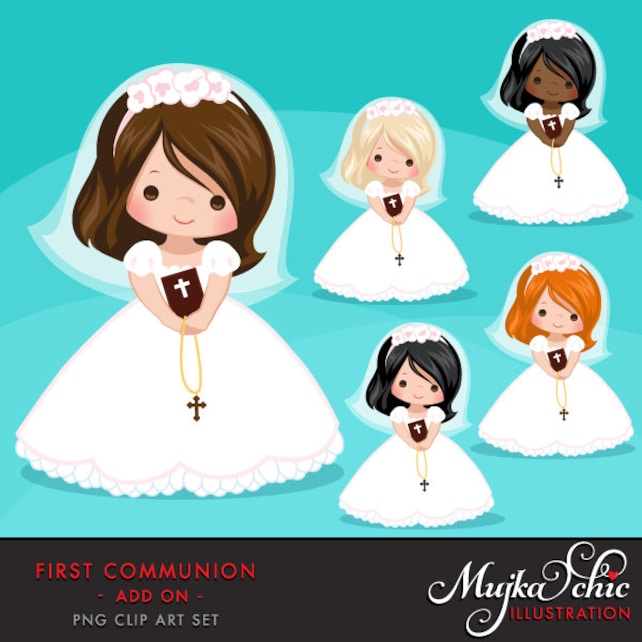 first communion clipart for girls communion characters etsy rh etsy com first communion clipart free first communion clip art free catholic