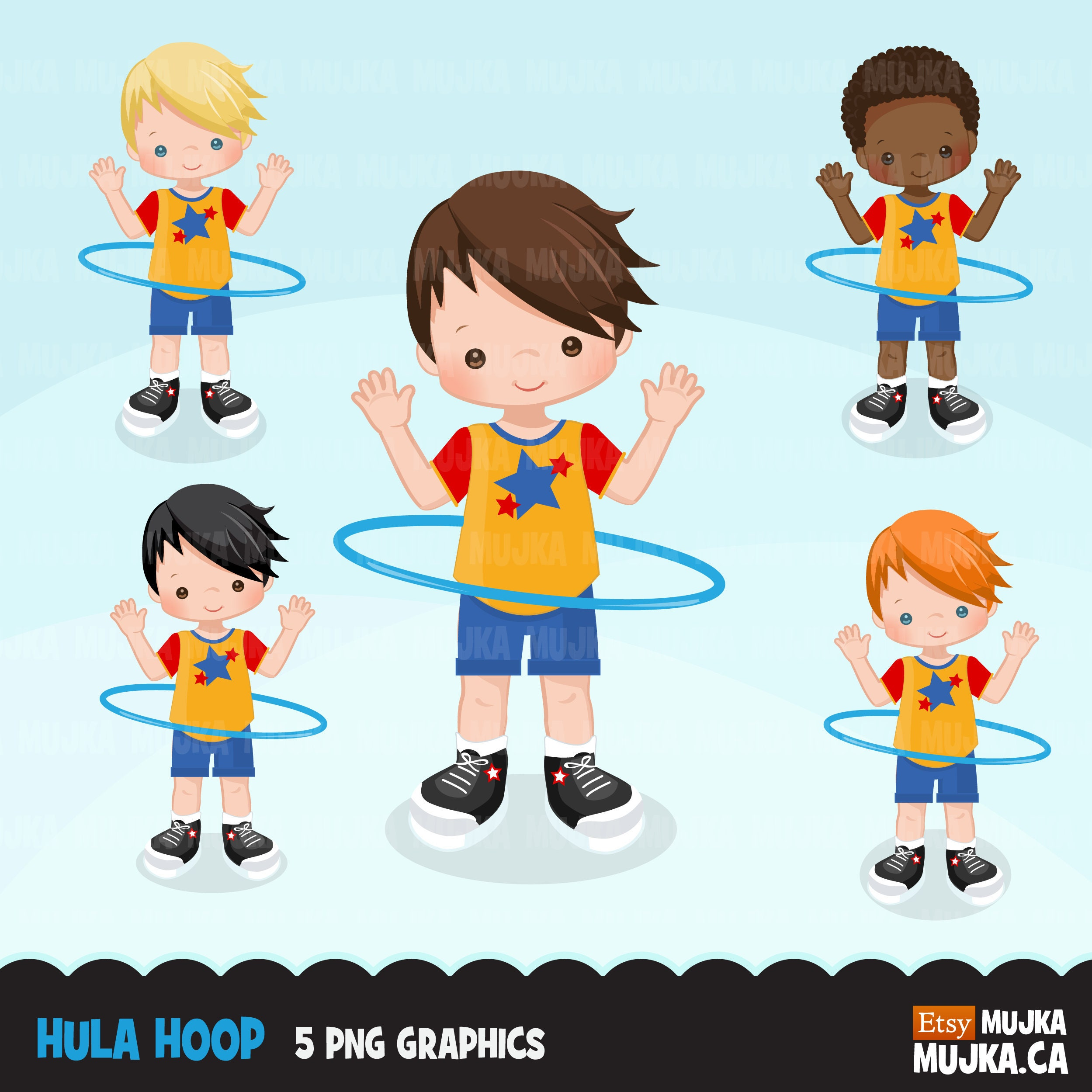 Hula hoop boys Clipart Outdoors activity hula hoop graphics