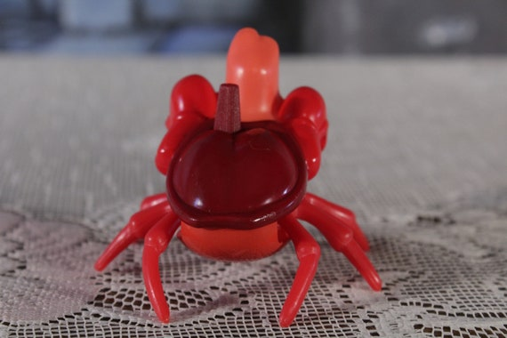 Vintage petite sirène Sébastien le crabe vent jouet Burger King Walt Disney des années 90 de 1993 des jouets à collectionner cake topper figure