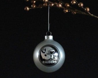 Vintage Los Angeles Raiders Christmas Tree Ornament - Holiday Decorations - NFL - Football - Collectible Ornament