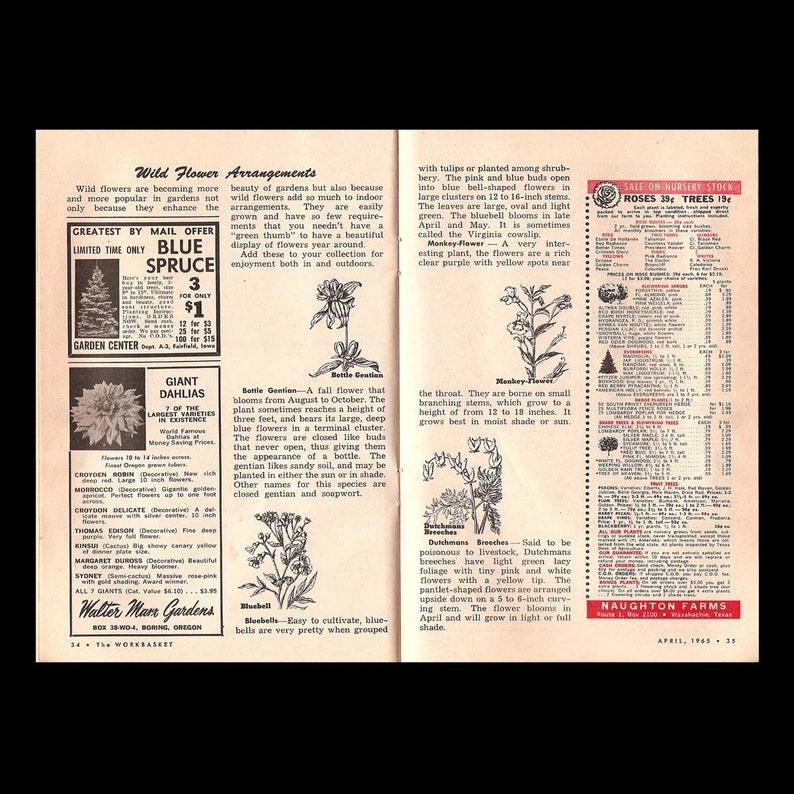 30 The Workbasket no Vintage Craft Magazine c April 1965 7 vol