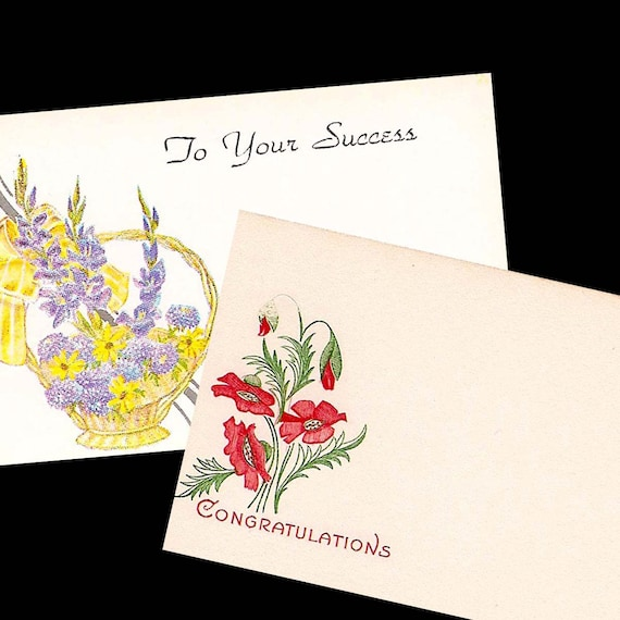 Vintage floral shop gift tags and greetings to your success etsy image 0 m4hsunfo