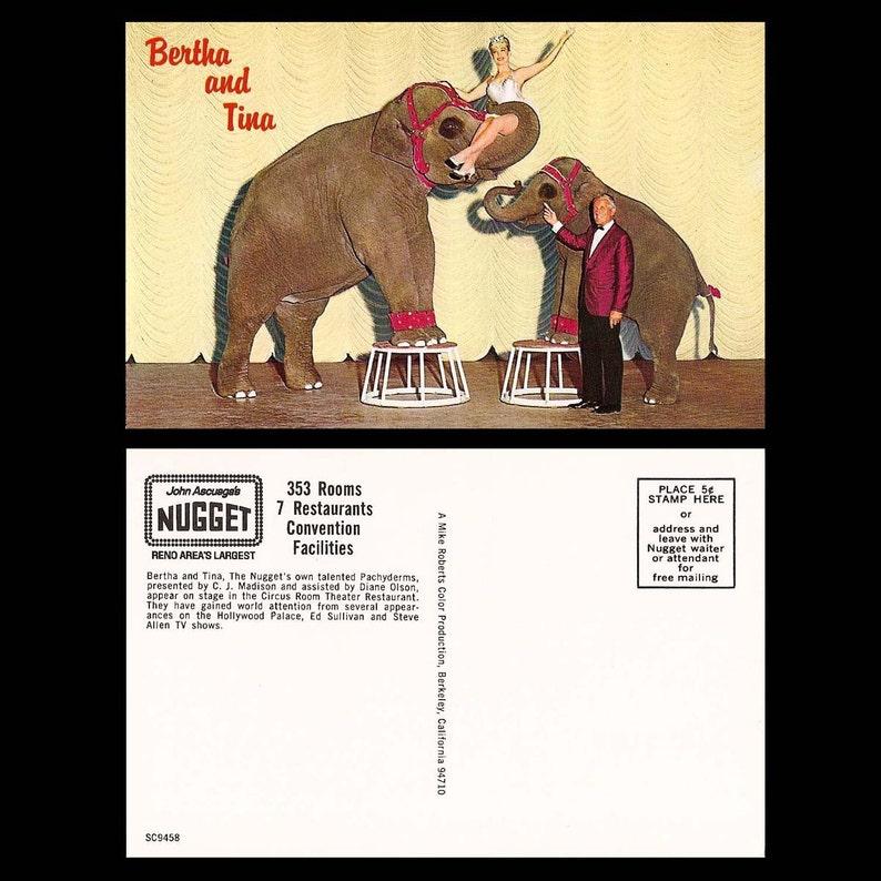 World/'s Largest Slot Machine Mickie Finn Nevada Set of 3 Bertha /& Tina Vintage Postcards of Reno Harrah/'s- John Ascuage/'s Nugget