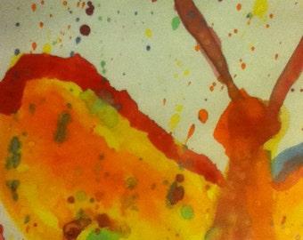 Fire Butterfly watercolor