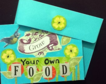 Grow Your Own Food Card and Envelope