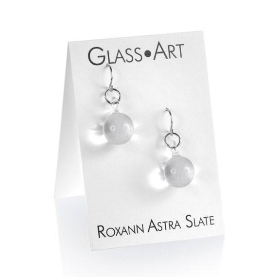 Glass Small Ball Drop Earrings
