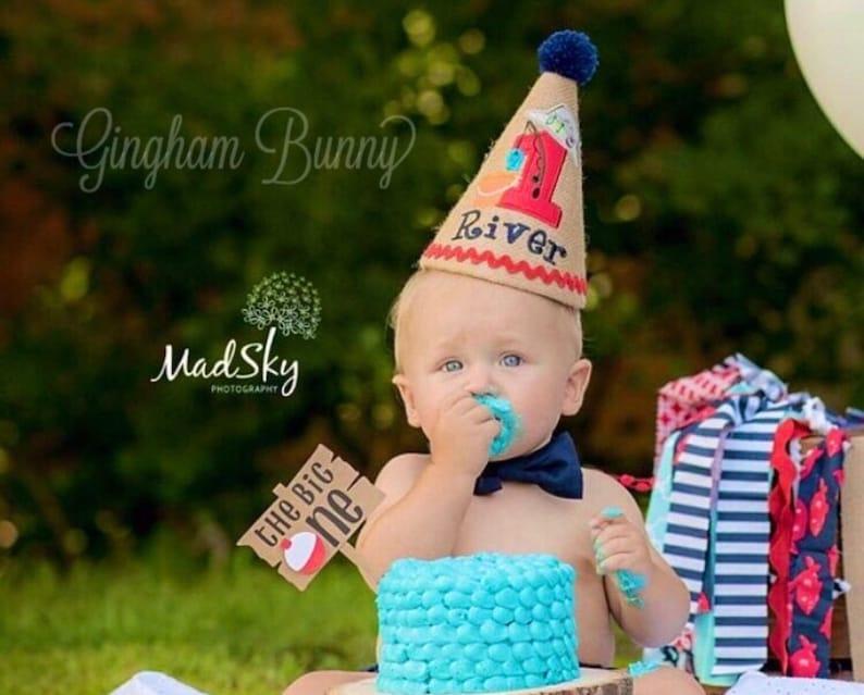 Fishing Birthday Hat 1st Baby Boy