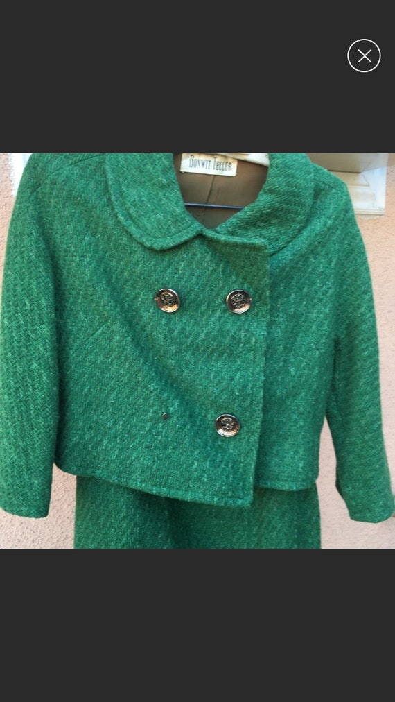 Wool Green Jackie O Suit