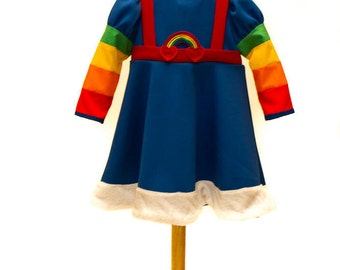 Rainbow Brite Dress Costume in any Child's Size