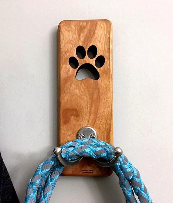 Gancho para correa de perro con ganchos dobles para montar en la pared nunca caminar solo regalo para amantes de los perros
