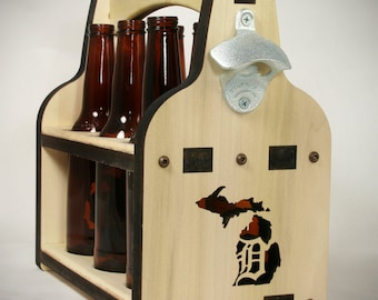 Beer Holder | Beer Caddy | Six Pack Beer | Wooden Beer Tote | Beer Carrier | 6 Pack Holder | Beer Bottle Carrier | 6 Pack Beer Carrier |
