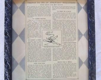 vintage AWKWARD SITUATIONS -circa 1913s- framed (8x10)