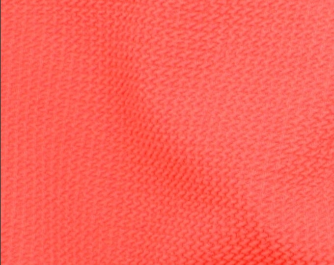 Paola Pique KNIT by Telio - Coral - Fabric By the Yard