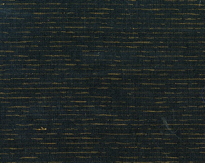 SALE PRICE - Chambray in Midnight & Metallic Gold from Andover Fabrics - Cotton Chambray Fabric