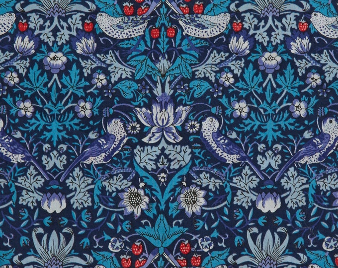 Classic Tana Lawn Fabric Collection - Strawberry Thief in Blue by Liberty Art Fabrics