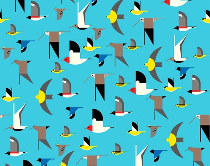 Maritime - Birds in Multi by Charley Harper for Birch Fabrics - Double Gauze Organic Cotton Fabric