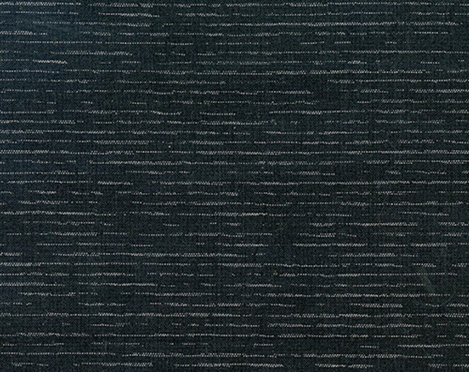 Chambray in Sable & Metallic Silver from Andover Fabrics - Cotton Chambray Fabric
