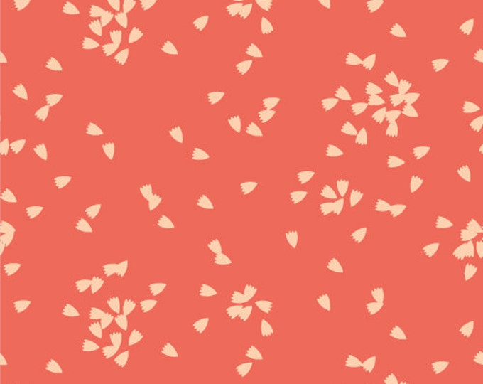 Vignette - Petals in Red by Cloud 9 Fabrics - Organic Double Gauze Fabric