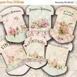 SALE LACE HOLDERS No. 1 Collage Digital Images -printable download file Scrapbook Printable Sheet