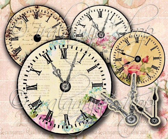 graphic about Printable Clocks named Typical CLOCK No. 2 Printable / Electronic Illustrations or photos / down load /Printable Clock / sbook paper/ Basic Clock / Clock Printable /Basic Clock