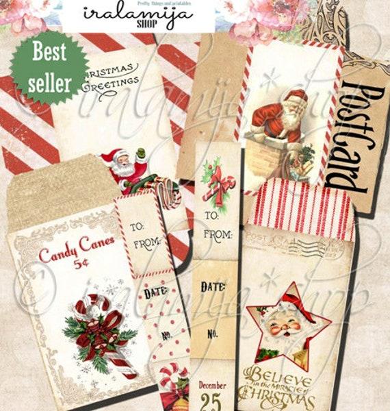 image about Printable Christmas Envelopes named Printable Xmas Envelopes / Xmas ENVELOPES / Printable Electronic Visuals -printable Envelopes / Xmas Photos / Xmas / Santa