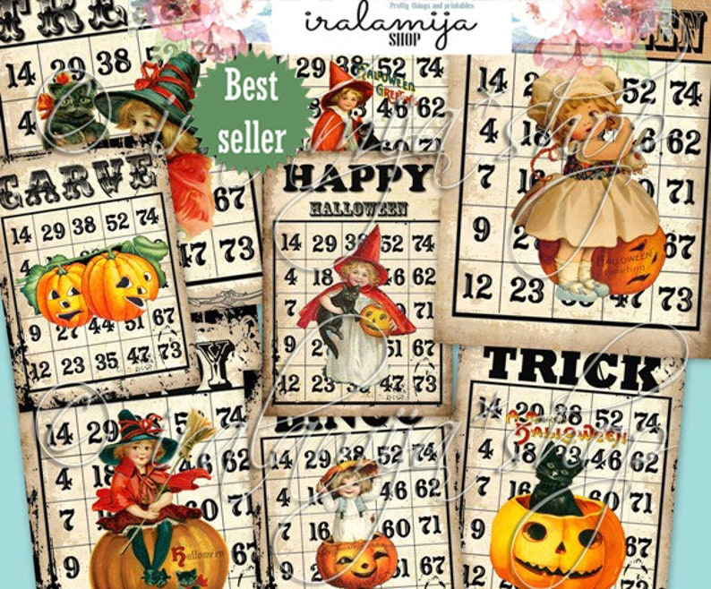photo about Printable Haloween Bingo named Printable Halloween Bingo Playing cards / HAUNTED BINGO Playing cards Collage / Halloween Bingo Photographs / Halloween printable Bingo playing cards / Halloween / Playing cards