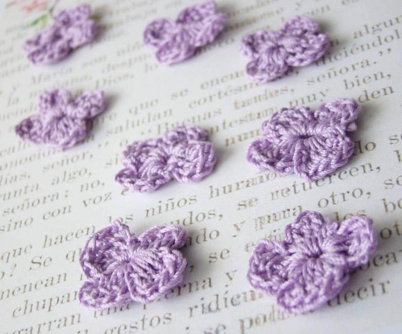 c58ba7dd55d4a Crochet Flowers - Pastel flower applique - crochet flower embellishment -  scrapbook supplies - cotton flowers - tiny flower - Crochet flower
