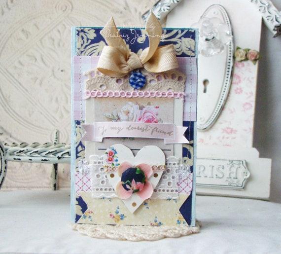 Friends Card / Dearest Friend/ Handmade Cards / Handmade Gifts / Greeting Cards / Friend Handmade Card / Friends / Friendship card/ Friends
