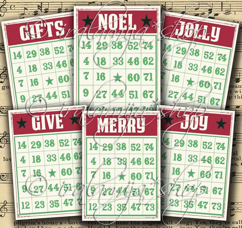 picture regarding Printable Christmas Bingo Cards named Printable Xmas Bingo Playing cards / NOEL BINGO Playing cards Collage / Xmas Bingo Visuals / Xmas printable Bingo playing cards / Xmas Bingo Card