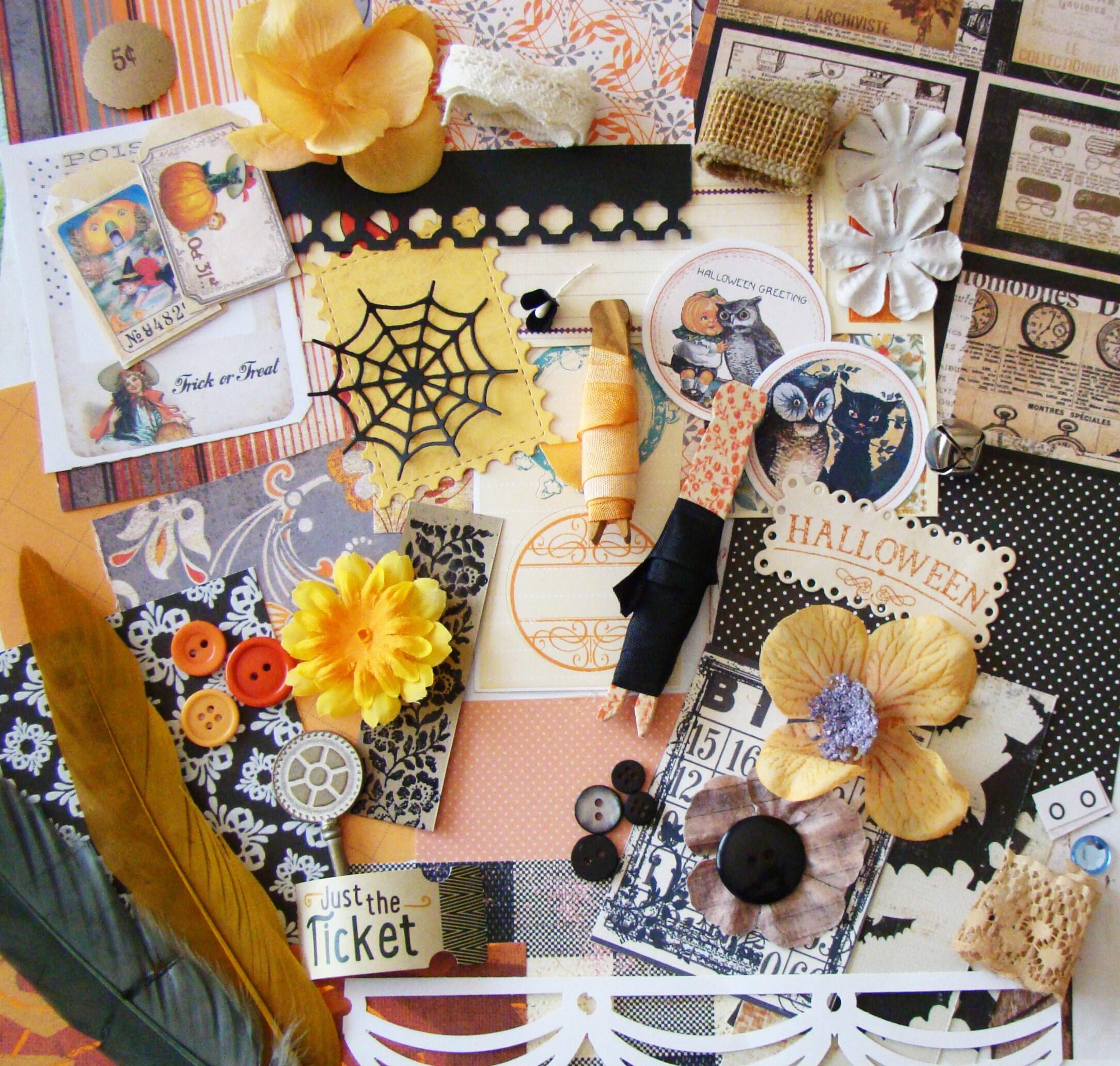 Halloween Greetings Mini Embellishment Kit Scrapbook