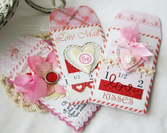 Valentine Envelopes Printable Digital Images Valentines Day Etsy