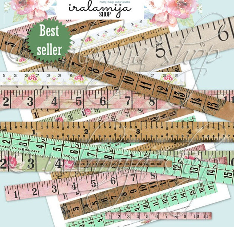 image about Tape Measure Printable titled Printable Tape Evaluate / TAPE Evaluate/ Electronic Visuals / printable down load / Tape Evaluate/ Printable Tape / Tape Evaluate / Planner / Magazine