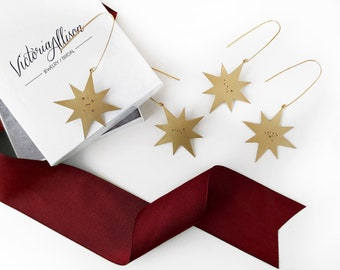 Custom Star Constellation Ornament - Brass - Personalized with Zodiac, Big Dipper, Orion, Cassiopeia and More