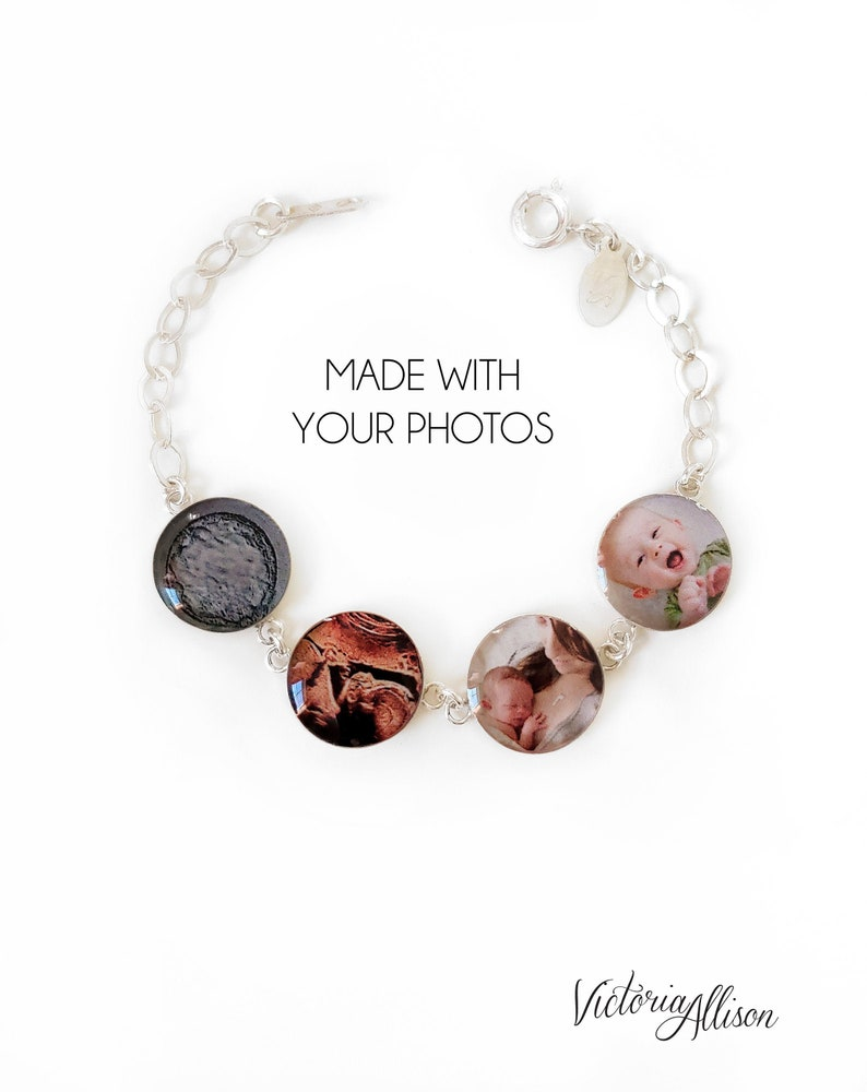 Sterling Silver Photo Bracelet Journey of Life Personalized image 0