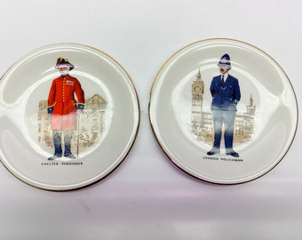 Vintage British character plates