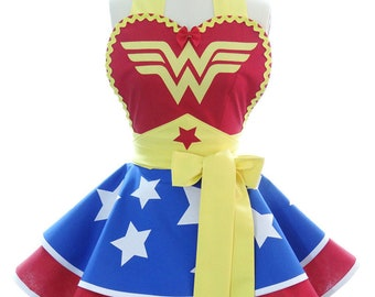 Schürzen für Frauen - Geschenk für Schürze - Wonder Woman Kostüm Schürze - Womens Kostüm - Gastgeberin Geschenk - Cosplay Schürzen - BambinoAmore